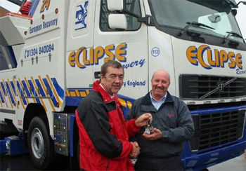 -Eclipse Recovery take the keys to a Volvo NRC unit from the Roger Dyson Group